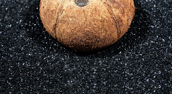 turning a coconut into activated carbon
