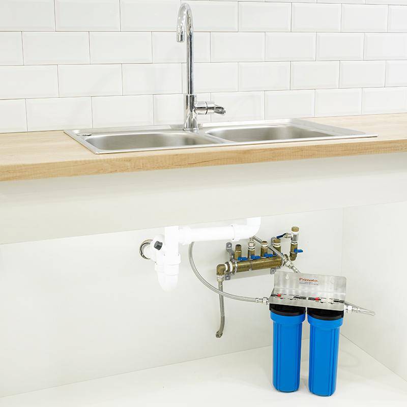 διπλό φίλτρο νερού κάτω πάγκου WATTS