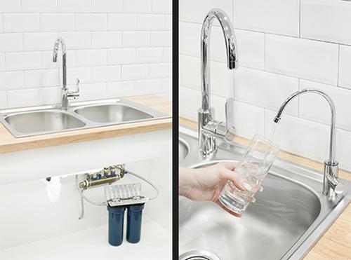 Under-sink water filters