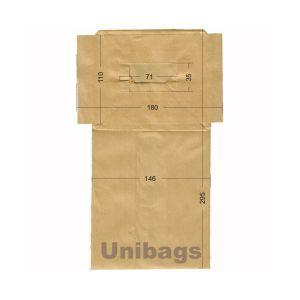 Bolsas de aspiradoras PHILIPS, ROTEL, ECOCLEAN. Unibags 780