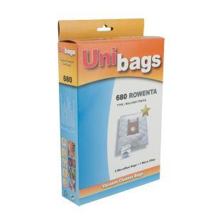 Bolsas de tela para aspiradoras Rowenta, Calor y otros. Unibags 680D