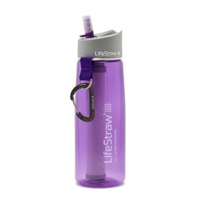 LifeStraw® GO VIOLET 2-stage water filter survival bottle LS11107
