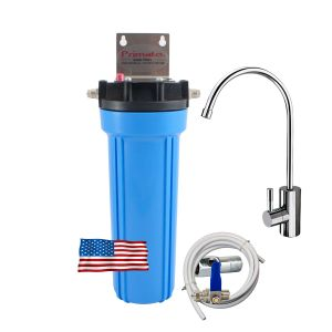 Under-the-sink activated carbon water filter made in the USA and deluxe tap Primato USA1GB14