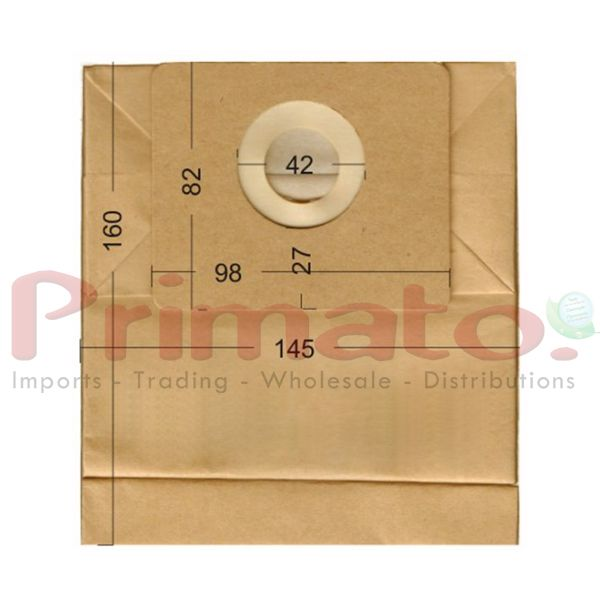 Vacuum Cleaner Paper Bags suitable for HOBBY, CONTINENTAL.  Primato 1215