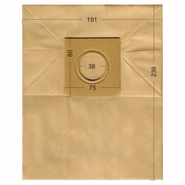 Vacuum Cleaner Paper Bags suitable for HOOVER, ROTEL, CURTISS, ECOCLEAN, FILTERCLEAN  Primato 1960