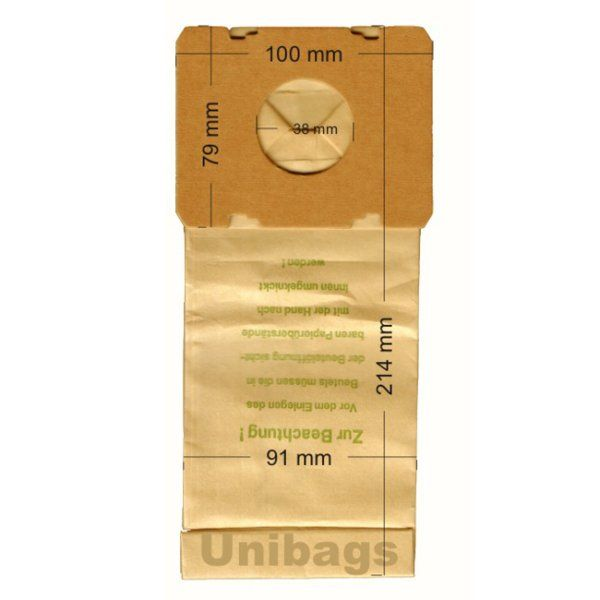 Vacuum Cleaner Paper Bags suitable for BOSCH, SIEMENS, EUROFILTERS, SWIRL. Primato 415