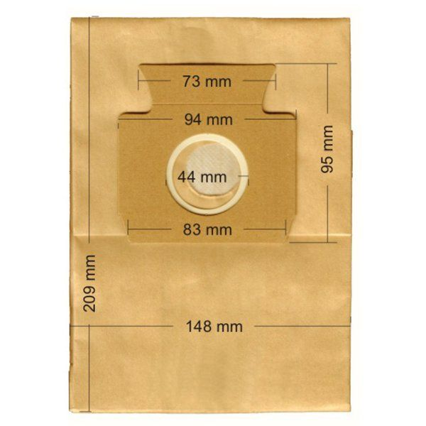 Vacuum Cleaner Paper Bags suitable for MIELE, ECOCLEAN, EUROFILTERS, FILTERCLEAN, HQ, MALAG, SWIRL  Primato 520