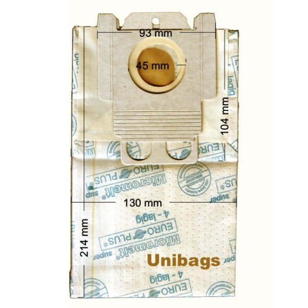 Vacuum Cleaner Paper Bags suitable for MIELE, ECOCLEAN, FILTERCLEAN, HQ, MALAG, SWIRL,  Primato 610