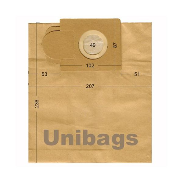 Bolsas de aspiradoras Alaska, Ariete, Hobby.Unibags 1210