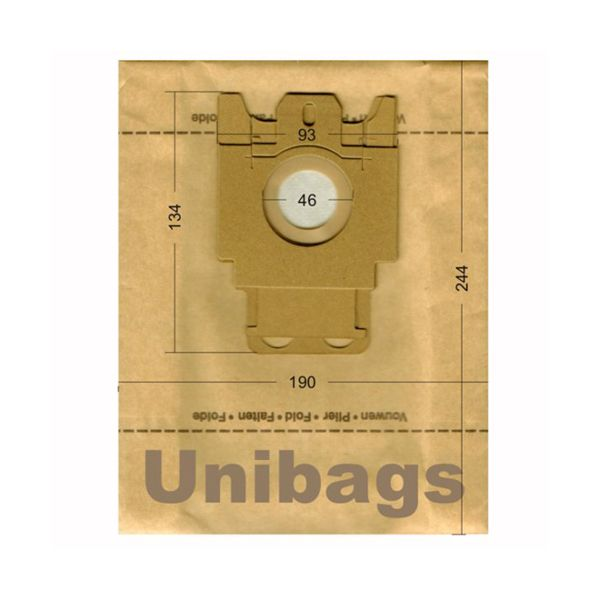Vacuum Cleaner Paper Bags suitable for MIELE, ECOCLEAN, HQ, MALAG, SWIRL. Primato 602