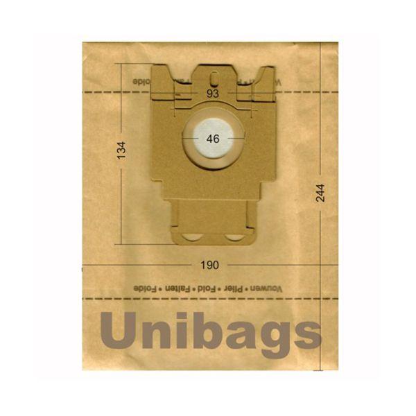 Bolsas de aspiradoras MIELE, ECOCLEAN, HQ, MALAG, SWIRL. Unibags 602
