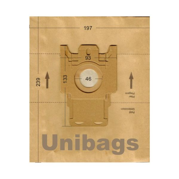 Vacuum Cleaner Paper Bags suitable for HOOVER, ECOCLEAN, FILTERCLEAN. Primato 1476