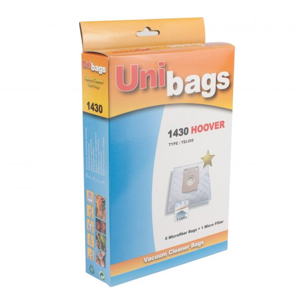 Vacuum Cleaner Bags suitable for HOOVER, ROHNSON, ARIA, AUDIO. Primato 1430D