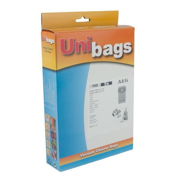 Bolsas de aspiradoras AEG, SINGER, ECOCLEAN, EUROFILTERS. Unibags 160