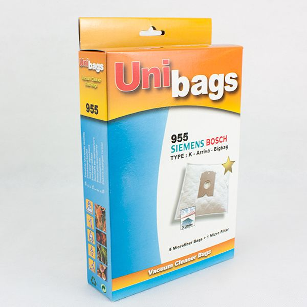 Vacuum Cleaner Bags suitable for BOSCH, SIEMENS, EASYCLEAN, HQ. Primato 955D