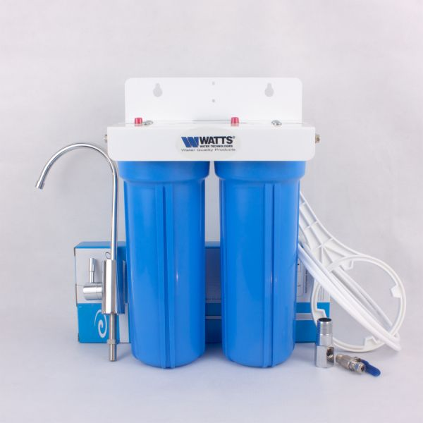 WATTS 1/4 double water filter with carbon block - made in USA