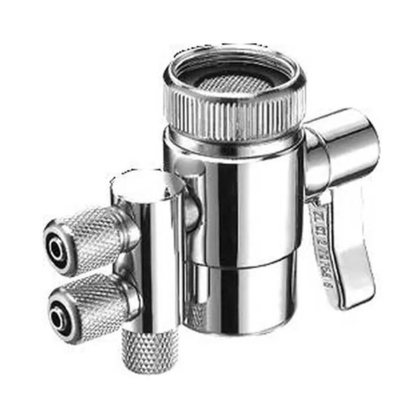 Double water filter Diverter 1/4