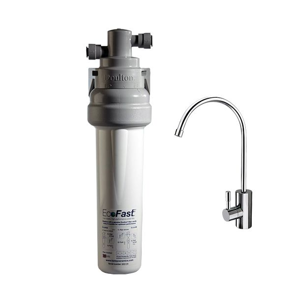 Doulton Eco Fast with deluxe faucet and ULTRA CARB cartridge - made in UK