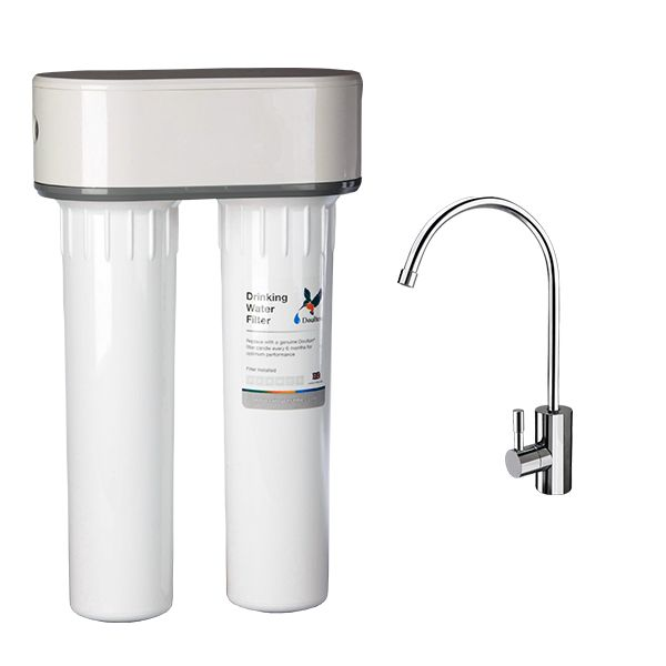 DOULTON HIP DUO with deluxe faucet and ULTRA CARB cartridge - made in UK