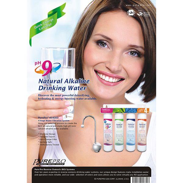 Wasserfilter untertisch mit schnellem Wechsel + alkalische Anreicherung. Pure Pro RS4000