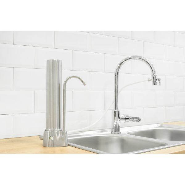 Filtro de agua americano con repuesto CeraMetix® con ceramica, Nanosilver, AquaMetix® y zeolita AquaCera® HCS INOX