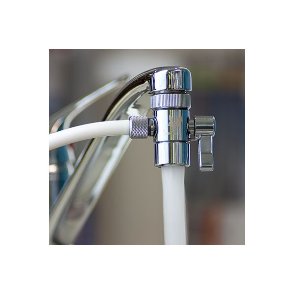 With the diverter you can toggle between filtered and unfiltered water