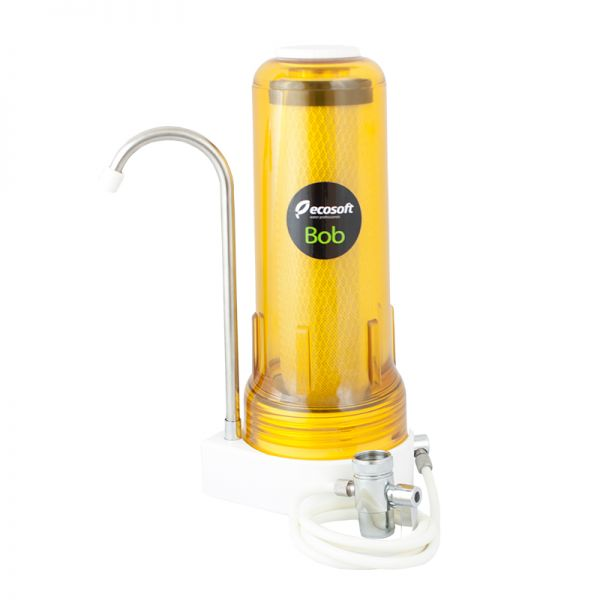 Countertop water filter with carbon block made in USA. BOB MANGO