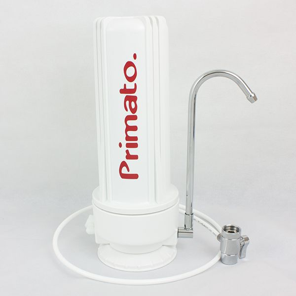 Countertop water filter with carbon block made in USA