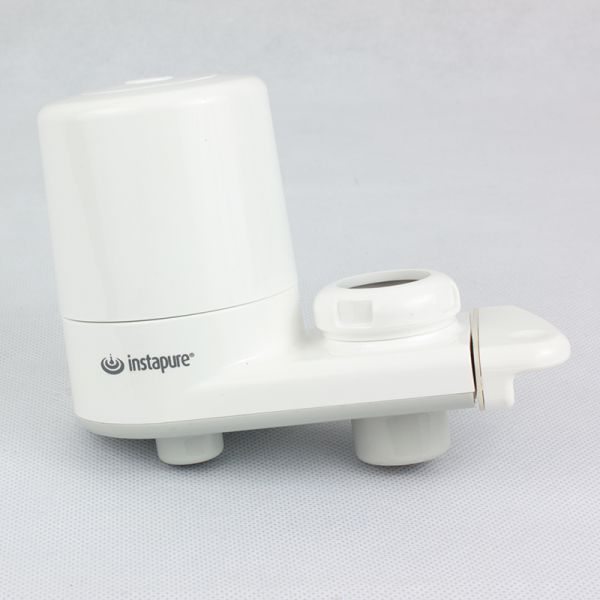 Instapure faucet water filter. White colour