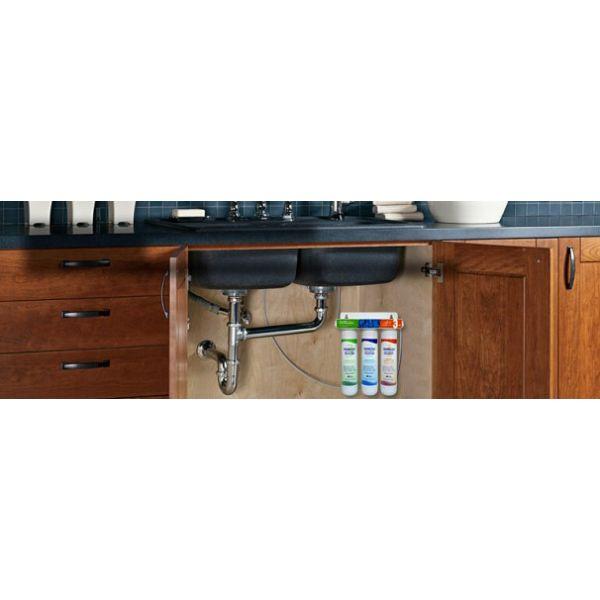 Φίλτρο νερού τριπλό κάτω πάγκου με σύστημα γρήγορης αλλαγής. Pure Pro RS3000