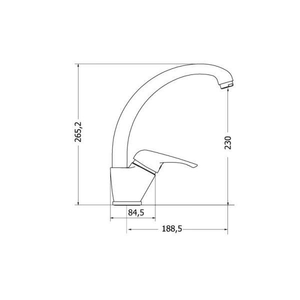 Luxurious faucet MODEA ELIT 00-2020