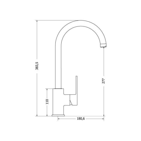 Luxurious faucet MODEA OMEGA 00-2060