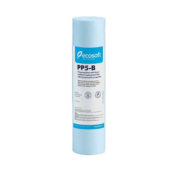 """Filter Cartridge 10"""" with bacteriostatic film and 5μm polypropylene - ECOSOFT CPV25105BECOEXP"""