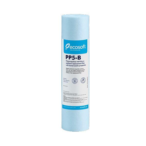 """Filtro de agua sólida de 10 """"con cinta bacteriostática y polipropileno de 5 μm - ECOSOFT CPV25105BECOEXP"""
