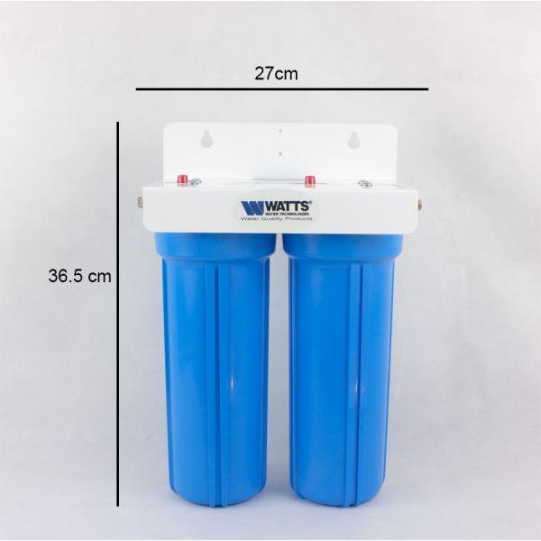 Doppelter Watts Wasserfilter mit Aktivkohle aus USA