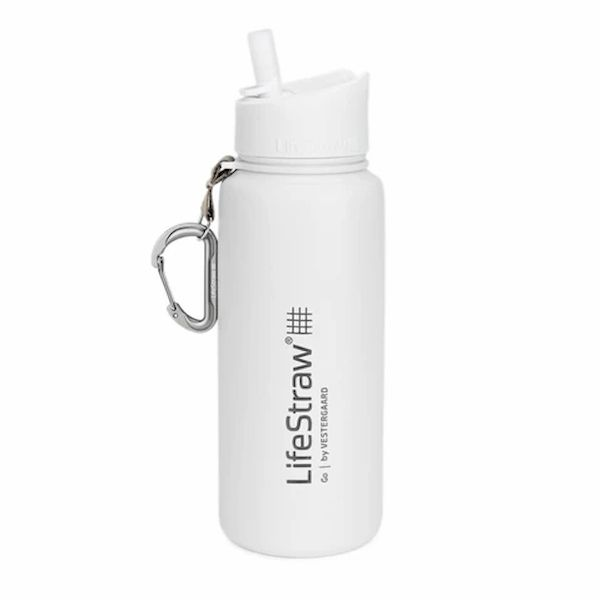 LifeStraw® GO Stainless Steel White 2-stage survival water filter with thermal insulation